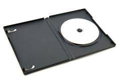 Dvd dans la boîte en plastique photographie stock libre de droits