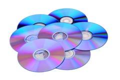 DVD de los discos nuevo Fotos de archivo