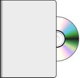 DVD-dekking met schijf Royalty-vrije Stock Fotografie