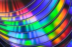 Dvd del CD dell'arcobaleno bluray Fotografie Stock Libere da Diritti