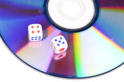 DVD and dice Stock Photo