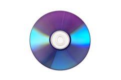 DVD die op wit wordt geïsoleerdt Stock Fotografie