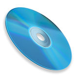 DVD disc. Isolated on white background. Clipping path included Royalty Free Stock Images