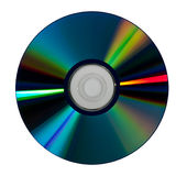 DVD Disc. Isolated on white royalty free stock photo