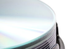 DVD Disc closeup Royalty Free Stock Images