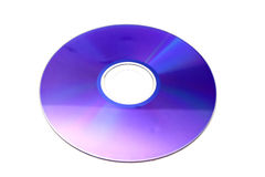 DVD Disc isolated on white background Royalty Free Stock Photos