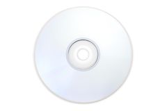 DVD disc shot without the blue rainbow glare. Stock Photos