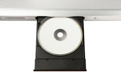 DVD on Disc Tray Stock Photos