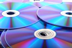 DVD, disco del CD su fondo bianco, primo piano, Fotografia Stock Libera da Diritti