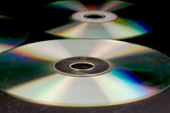 DVD discs. Background with many DVD discs Royalty Free Stock Photo