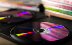 DVD discs Royalty Free Stock Images