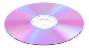 Dvd disk. Iridescent dvd a disk on a white background Royalty Free Stock Photo