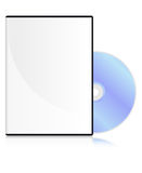 DVD disk. With a blank cover royalty free illustration