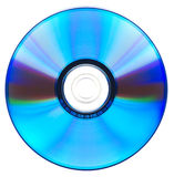 DVD-disk. Decorded DVD-disk on white background. Isolation Stock Image