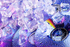 DVD Disk And Ice Royalty Free Stock Image
