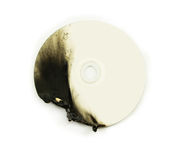 Dvd disk damage Stock Image