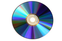 DVD disk - isolated. DVD disk with reflections - isolated on white background stock photos