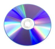 DVD disk. Isolated on white background Royalty Free Stock Photography