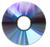 DVD disk on white Royalty Free Stock Photo