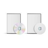 DVD-diskett och askmall för din design, vektor Royaltyfria Bilder