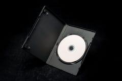 DVD-Diskette in einem Kasten Lizenzfreie Stockfotos