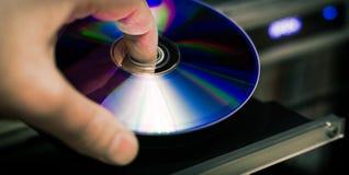 DVD-Disketteneinsatz Lizenzfreie Stockfotografie