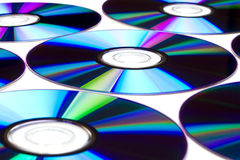 DVD disks background Stock Images