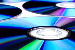 DVD disks close up Stock Photos