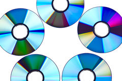 DVD disks over white Royalty Free Stock Photography