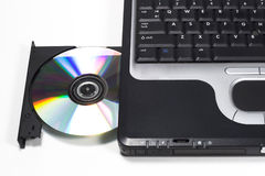 DVD Drive on Laptop Stock Photo