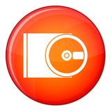 DVD drive open icon, flat style Royalty Free Stock Photography