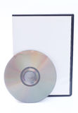 DVD and DVD Case. On a white background stock images