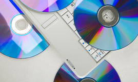 Dvd e portátil Imagens de Stock Royalty Free