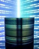 Dvd en blauwe achtergrond Stock Afbeelding