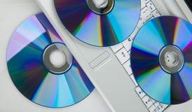 Dvd et ordinateur portatif Photos libres de droits