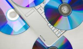 Dvd et ordinateur portatif Images libres de droits