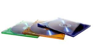 DVD Fall mit Platte Lizenzfreie Stockfotos