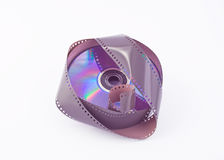DVD and Film 35mm royalty free stock photography
