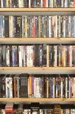 DVD Filmansammlung Stockbilder
