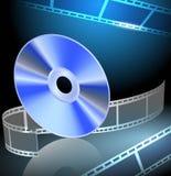 DVD и filmstrip Стоковая Фотография