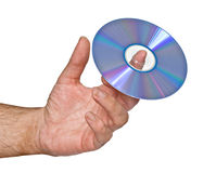 DVD on finger Stock Images