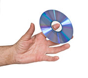 DVD on finger Royalty Free Stock Photos
