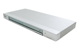 DVD-giocatore isolato immagini stock