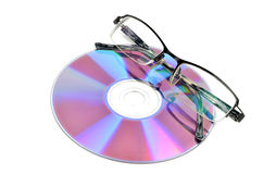 DVD and glasses Royalty Free Stock Photography