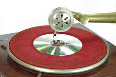 dvd gramophone αναδρομικό Στοκ φωτογραφία με δικαίωμα ελεύθερης χρήσης