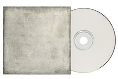 DVD with Grungy White Sleeve. Stock Photo