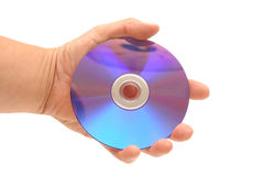 DVD in hand Stock Image