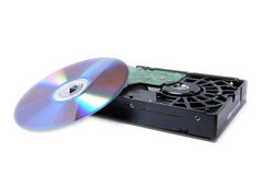 Dvd and hard disk Royalty Free Stock Image