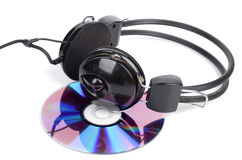 DVD and headphone Royalty Free Stock Photography