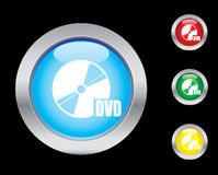 DVD icons. DVD glass button icons. Please check out my icons gallery Royalty Free Stock Photos